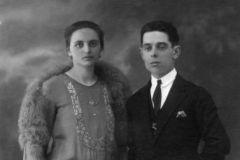 I genitori il giorno del loro matrimonio